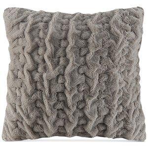 Madison Park Hand-Ruched Faux-Fur 25x25 Pillow